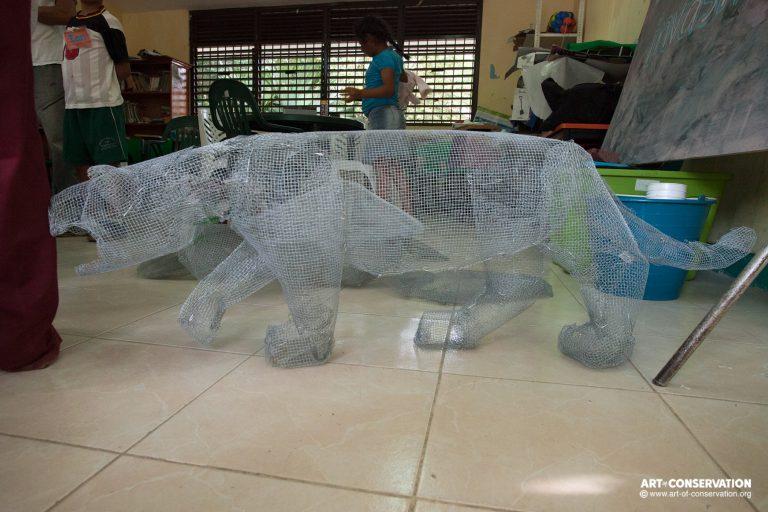 M3 paper mache tuttle and jaguar 013